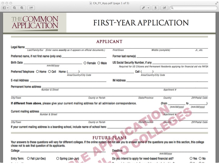 sample paper common app promoting college access